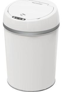 Lixeira Automática Com Sensor De Aproximação E Touch Smart Branca 9L - Ei079 Ei079
