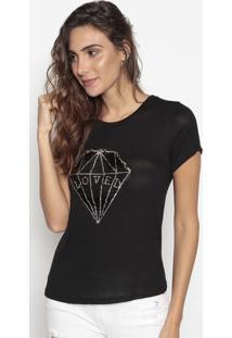 Blusa Diamante- Preta & Prateada- Cavallaricavalari