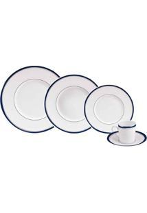 Aparelho De Jantar Excellence Marine 24 Peças Porcelaine De Limoges Philippe Deshoulieres