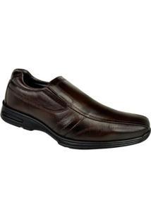 Sapato Conforto Cazzac Elástico Masculino - Masculino-Marrom