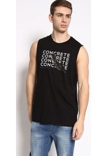 """Regata """"Concreto"""" - Preta & Branca - Colccicolcci"""
