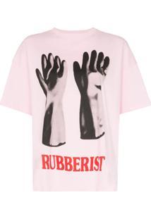 Christopher Kane Camiseta Rubberised Com Estampa - Rosa