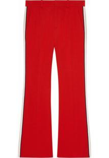 Gucci Calça Bootcut Cropped - Vermelho