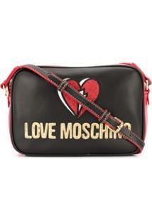 Love Moschino Bolsa Transversal Com Bordado De Coração - Neutro