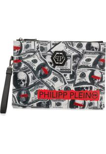 Philipp Plein Clutch Dollar - Cinza