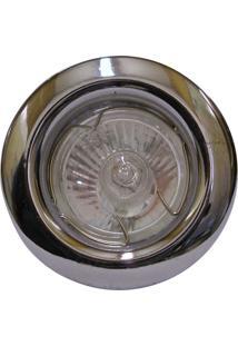 Spot Dicróica Fixo Aço Com Pintura Eletrostática Mr16 50W 220V Cromado