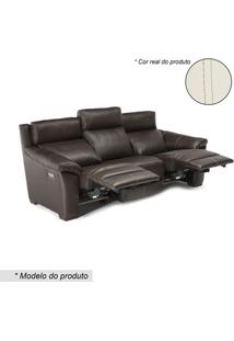 Sofã¡ U334 3 Lugares Reclinã¡Vel & Retrã¡Til- Branco & Wengnatuzzi Group