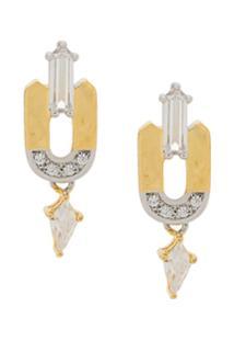 V Jewellery Par De Brincos Leandra - Dourado