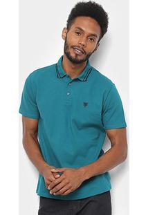 Camisa Polo Cavalera Básica Bordado Masculina - Masculino-Verde Claro
