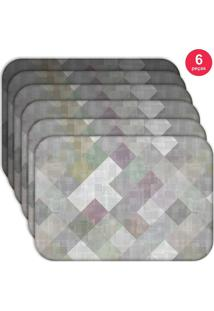Jogo Americano Love Decor Wevans Abstract Kit Com 6 Pçs