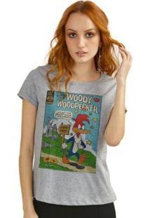 Camiseta Bandup Pica-Pau Hq - Feminino-Mescla