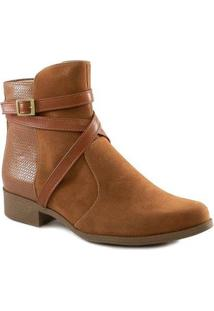 Bota Tiras Cruzadas 2020 Número Grande Sapato Show Feminina - Feminino-Marrom