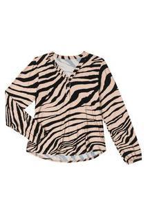 Blusa Feminina Plus Size Animal Print Rovitex Plus Bege