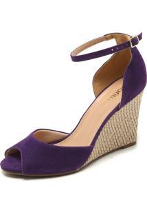 Sandália Dafiti Shoes Anabela Roxa