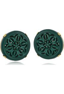 Brinco Le Diamond Baquelite Verde - Tricae
