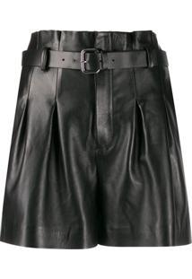 Red Valentino Shorts Com Cinto - Preto