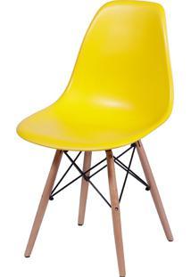 Cadeira Eames Dkr C/ Base De Madeira Or-1102B – Or Design - Amarelo