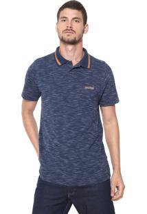 Camisa Polo Mr Kitsch Reta Padronagem Azul-Marinho