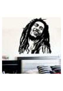 Adesivo De Parede Bob Marley 2 - M 67X60Cm