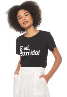 Camiseta Coca-Cola Jeans Sumido Preta