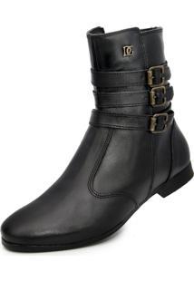 Bota Cano Curto Over Boots Urban Day Preta - Kanui