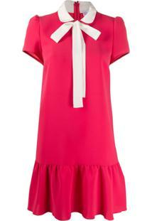 Redvalentino Vestido Com Detalhe De Amarração - Vermelho