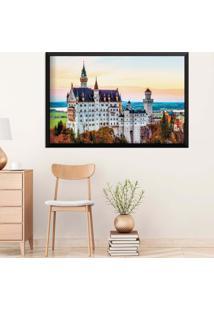 Quadro Love Decor Com Moldura Castelo Europeu Preto Médio