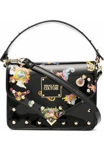 Versace Jeans Couture Baroque Pattern-Print Satchel Bag - Preto