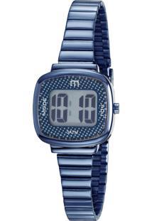 Kit De Relógio Digital Mondaine Feminino + Pulseira - 53861Lpmgee1K Azul Marinho