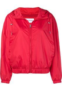 Calvin Klein Jeans Jaqueta Bomber Com Logo Estampado - Vermelho