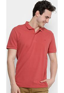 Camisa Polo Forum Piquet Masculina - Masculino-Coral