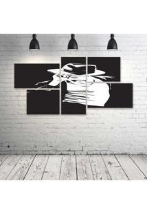 Quadro Decorativo - Michael-Jackson - Composto De 5 Quadros - Multicolorido - Dafiti