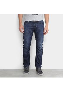 Calça Jeans Skinny Opera Rock Estonada Masculina - Masculino-Azul Escuro
