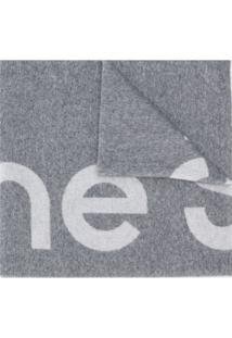 Acne Studios Cachecol Jacquard Com Logo - Cinza