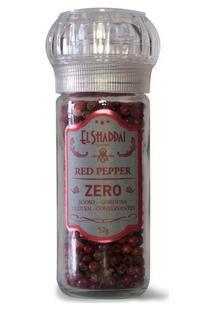Pimentas Red Pepper Pote De Vidro Moedor Reutilizável-52G - Unissex