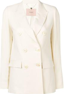 Twin-Set Double-Breasted Jacket - Branco