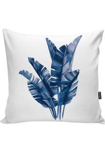 Capa Para Almofada Impermeável Foliage- Branca & Azul