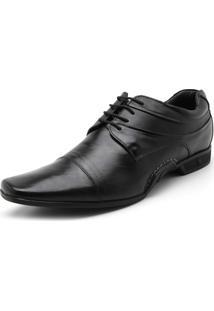 Sapato Social Couro Rafarillo Recorte Preto