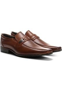 Sapato Social Wakalbout Masculino - Masculino-Caramelo