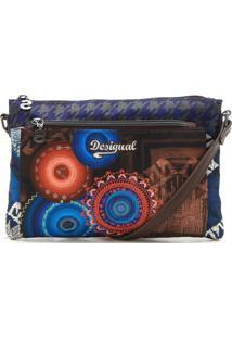 Bolsa Desigual Bordada Azul-Marinho