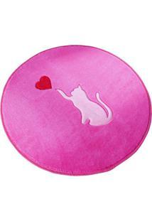 Tapete Formato Premium 65Cm Ø Gato Love Pink Guga Tapetes