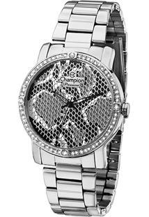 Relógio Analógico Champion Ch24213Q Feminino - Feminino-Prata
