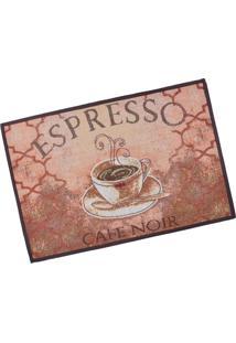 Tapete De Cozinha Jacquard 45Cm X 65Cm Espresso