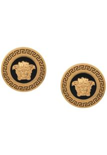 Versace Medusa Tribute Stud Earrings - Amarelo
