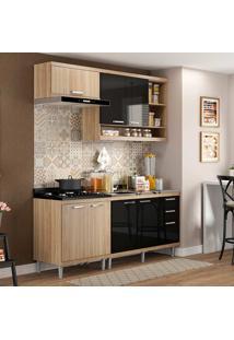Cozinha Compacta 4 Peças 5810-S6 - Sicília - Multimóveis - Argila / Preto