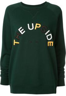 The Upside Blusa De Moletom Horse - Verde