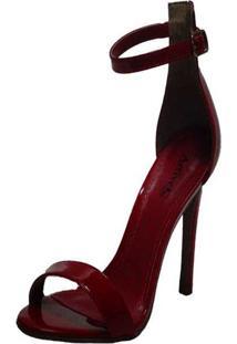 Sandália Salto Fino Arrive Fashion Gloria Vermelho