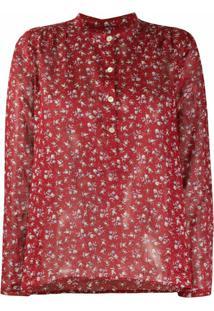 Isabel Marant Étoile Blusa Com Estampa Floral - Vermelho