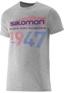 Camiseta Salomon Maculina 1947 Cinza Gg