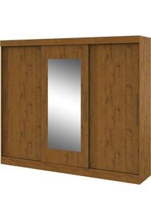 Armário 3 Portas De Correr Com Espelho, Montebello Rovere Soft
